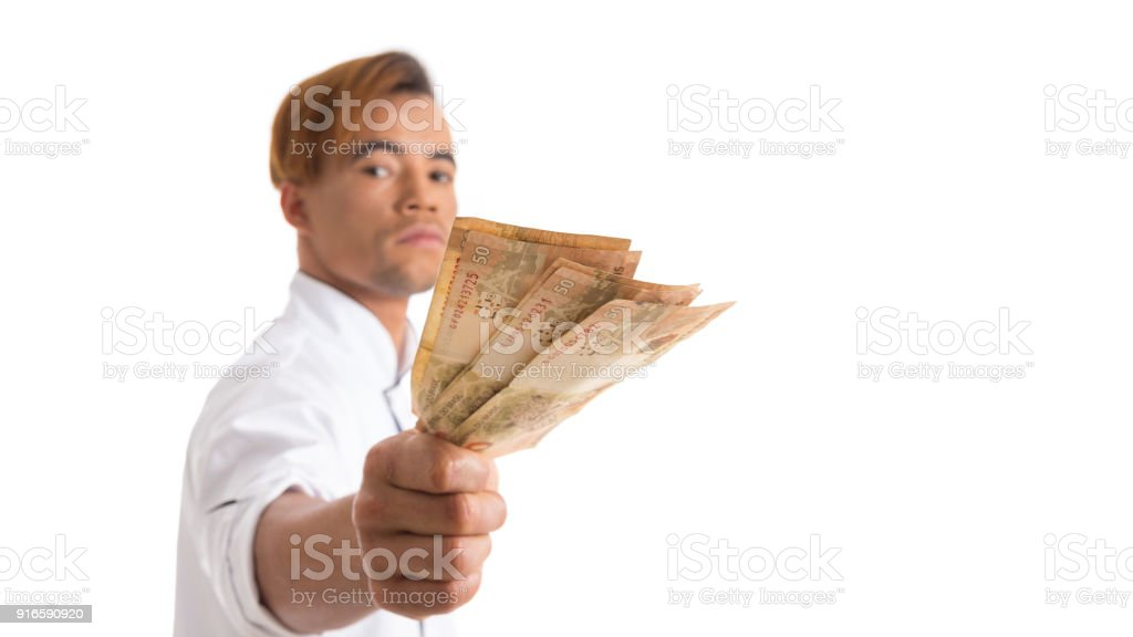 White man with money