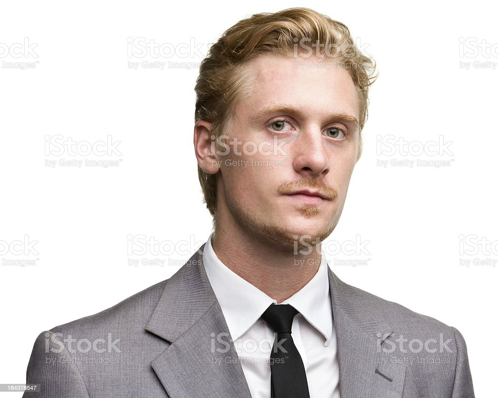 Serious Man In Suit And Tie Portrait stock photo