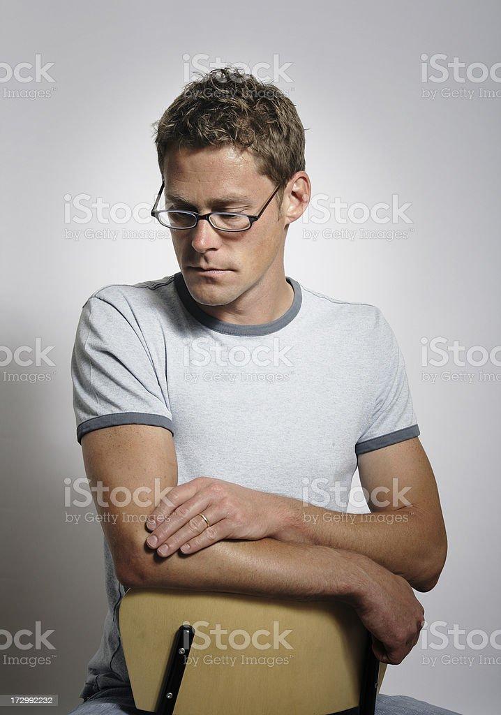 Serious Man royalty-free stock photo