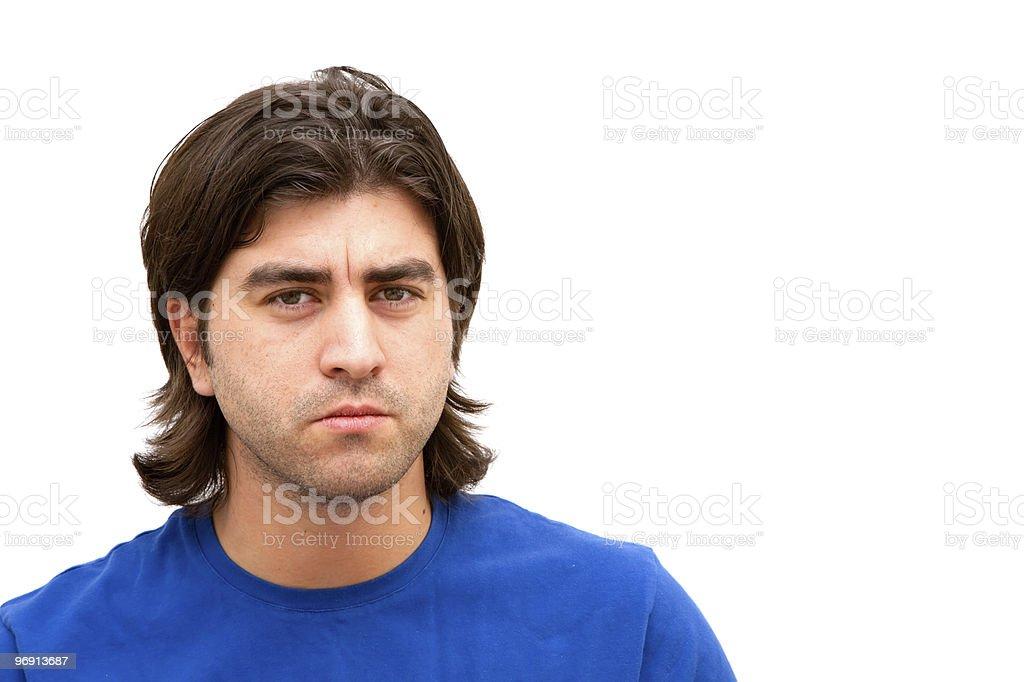 Serious man thinking royalty-free stock photo