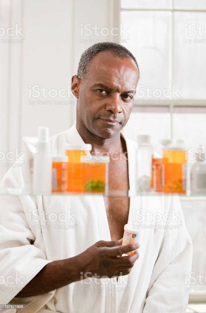 Serious Man with Prescription royalty-free stock photo