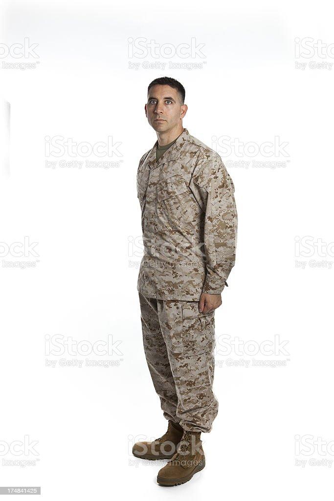 Serious Marine royalty-free stock photo
