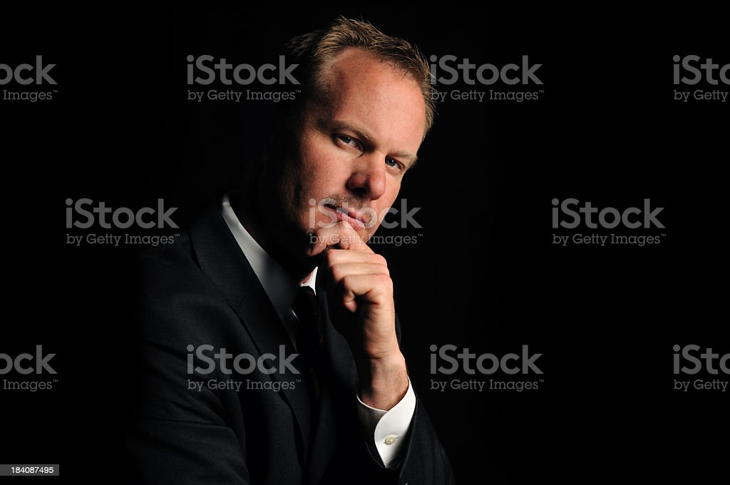Serious Mature Business Man. stock photo