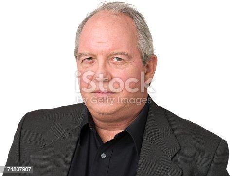 805011368 istock photo Serious Mature Man Close Up Portrait 174807907