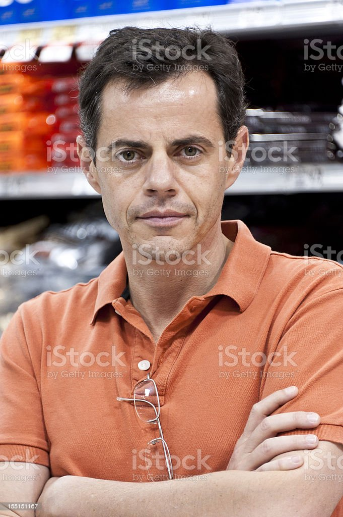 Serious mature man royalty-free stock photo