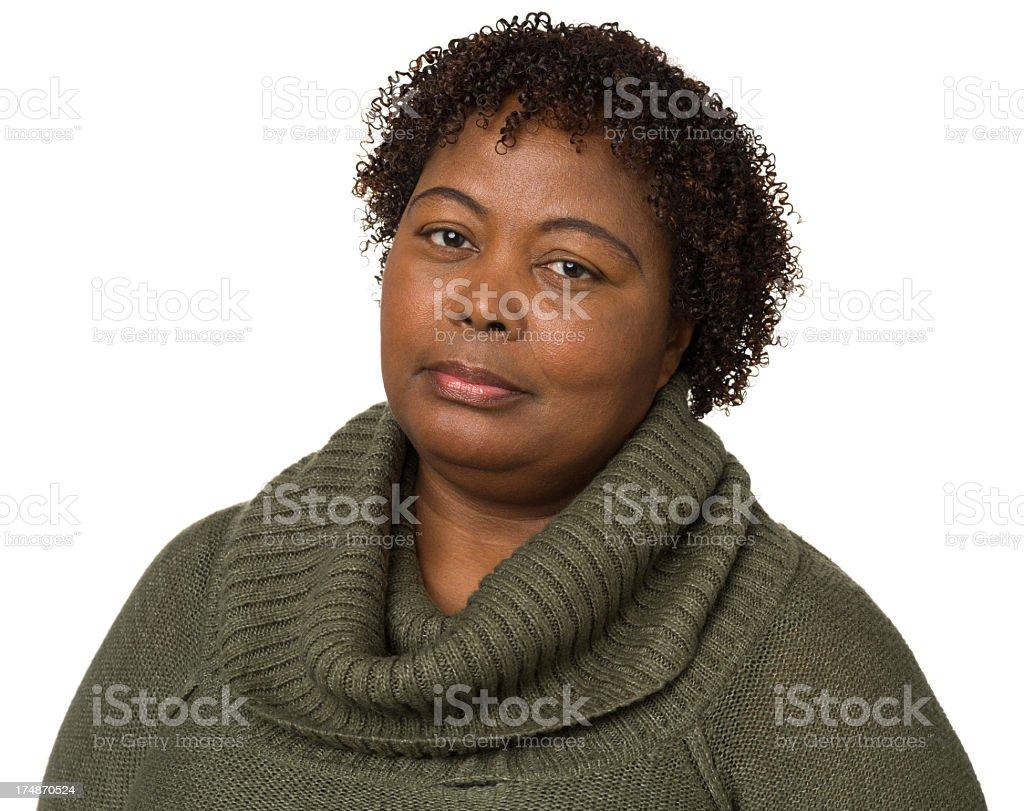 Serious Mature Woman Looking At Camera royalty-free stock photo