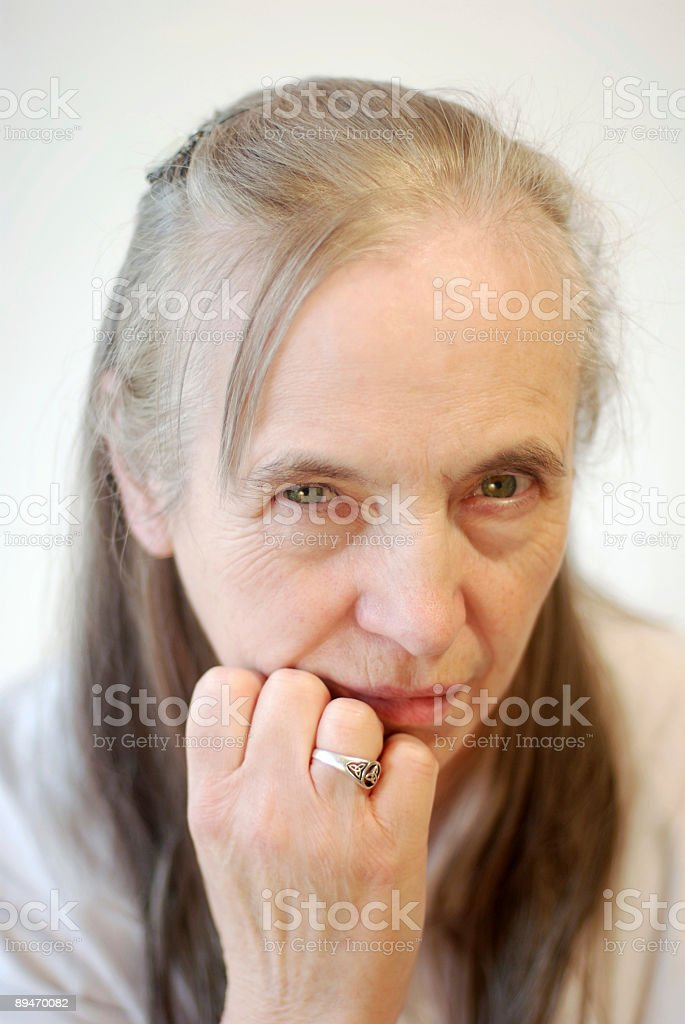 Echte Ältere Frau Lizenzfreies stock-foto
