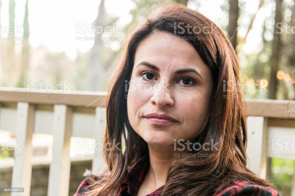 Serious Mature Woman stock photo
