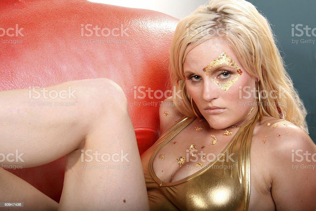 Serious mermaid royalty-free stock photo