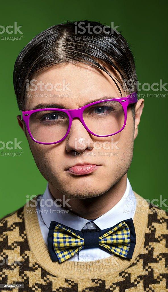serious nerd stock photo
