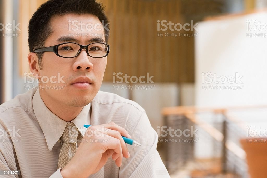 Serious office worker royalty-free stock photo
