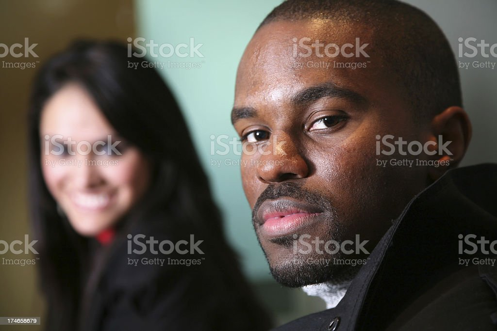 Serious Office Worker with Copy Space royalty-free stock photo