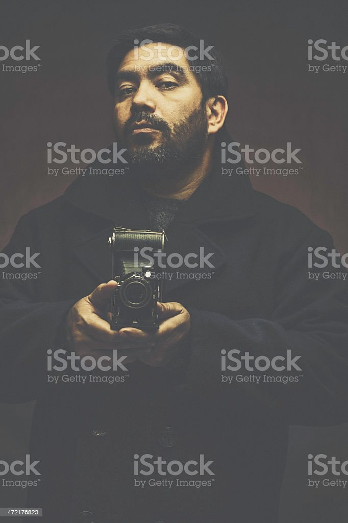 Serious Photographer stock photo