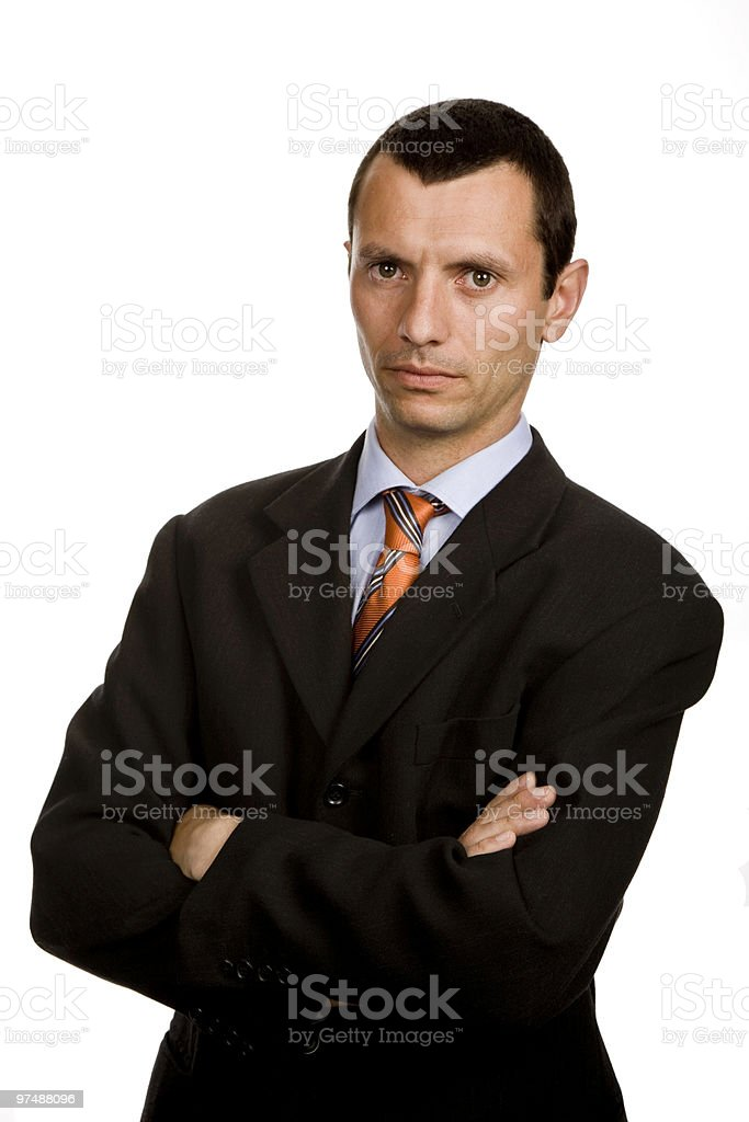 serious royalty-free stock photo