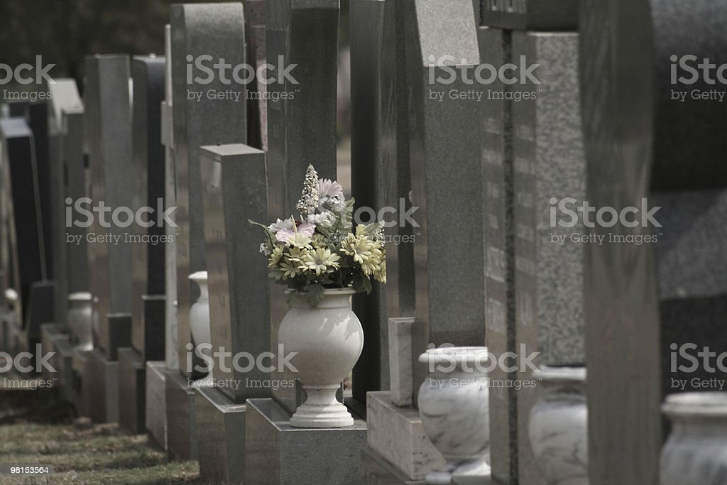Graves royalty-free stock photo