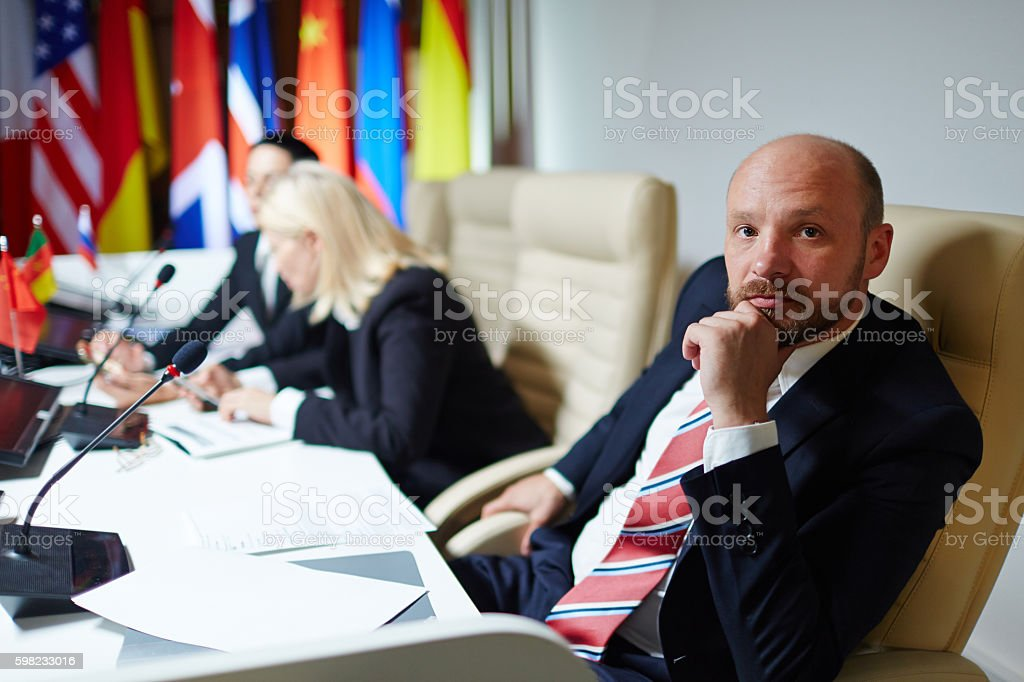 Serious politician foto royalty-free