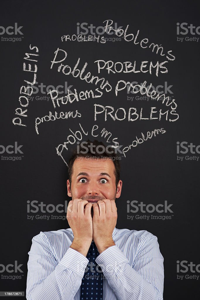 Serious problems at work royalty-free stock photo