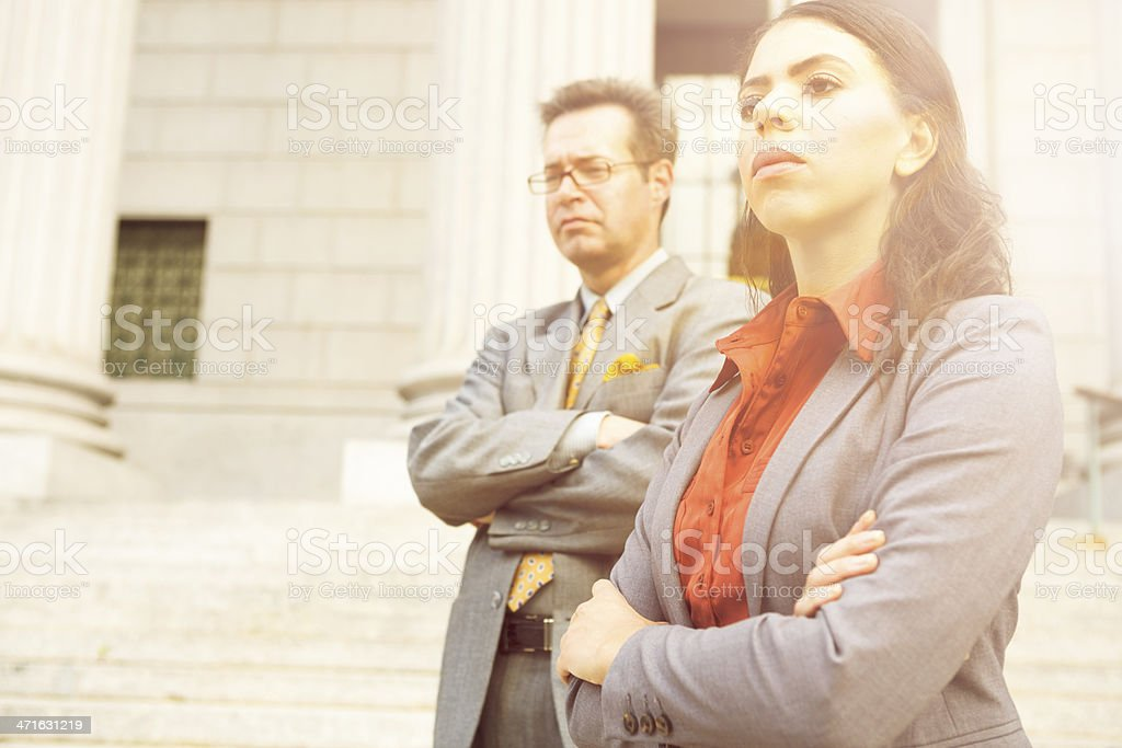Serious Professional People Arms Crossed stock photo