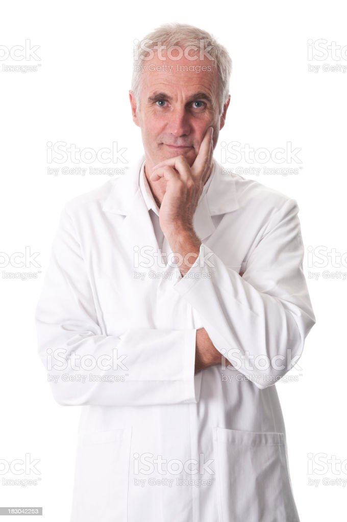 serious scientist with arms crossed royalty-free stock photo