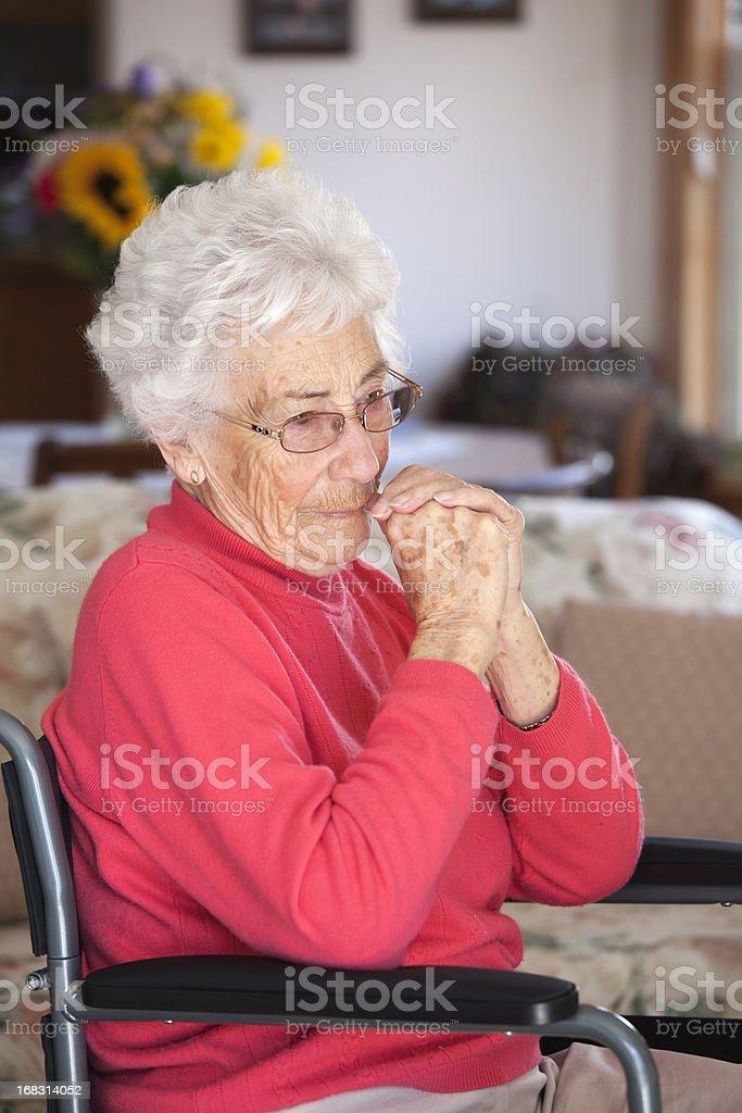 Serious Senior in Wheelchair royalty-free stock photo