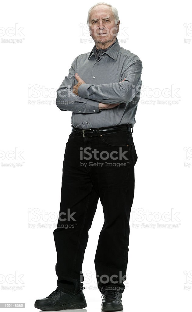 Serious Senior Man (real people) stock photo