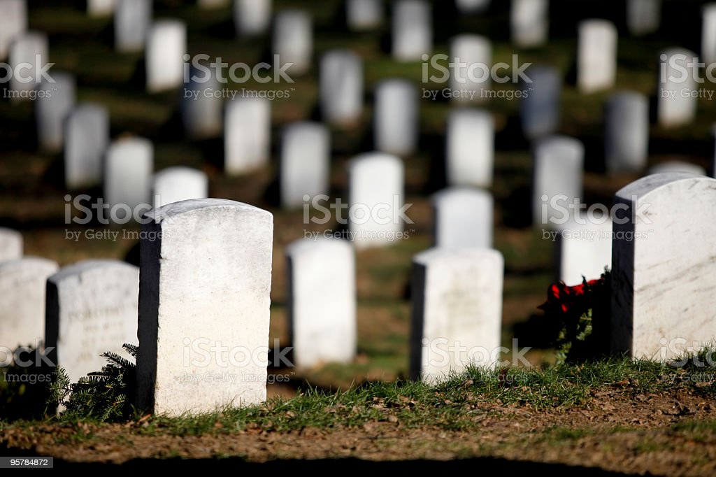 Grave site royalty-free stock photo