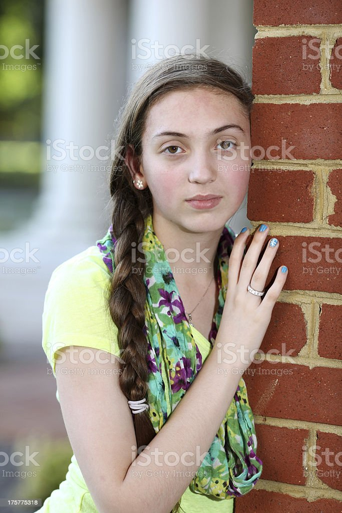 Serious Teenage Girl royalty-free stock photo