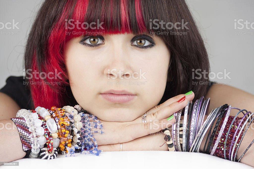 Serious teenage girl royalty-free stock photo