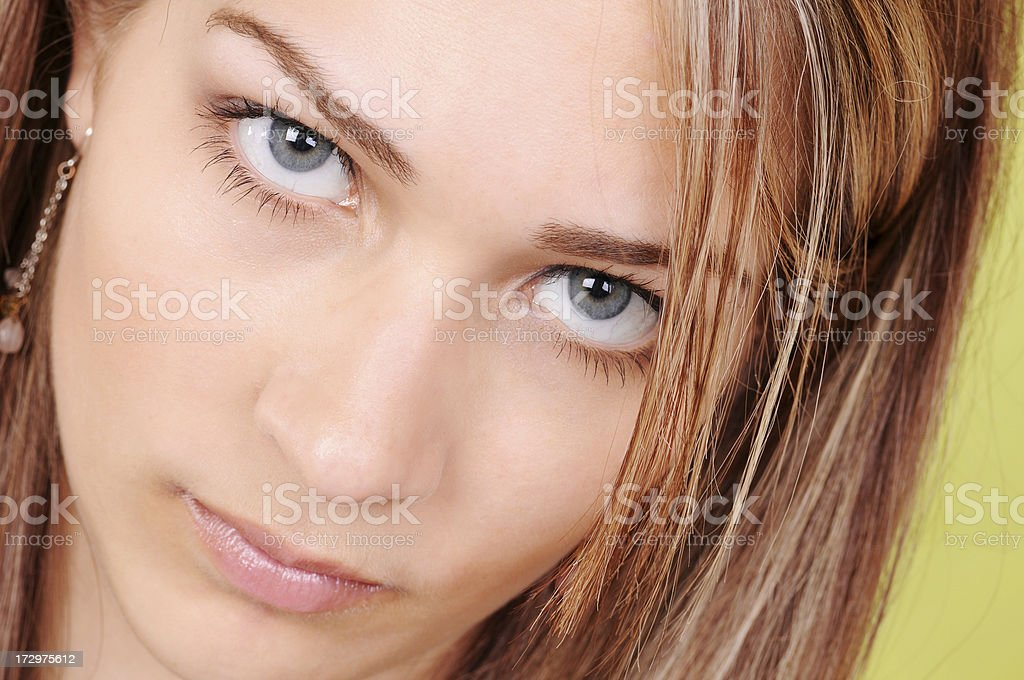 Serious Teenager royalty-free stock photo