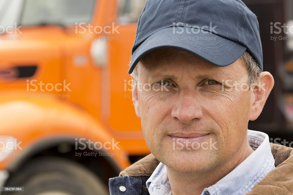 Serious Trucker royalty-free stock photo