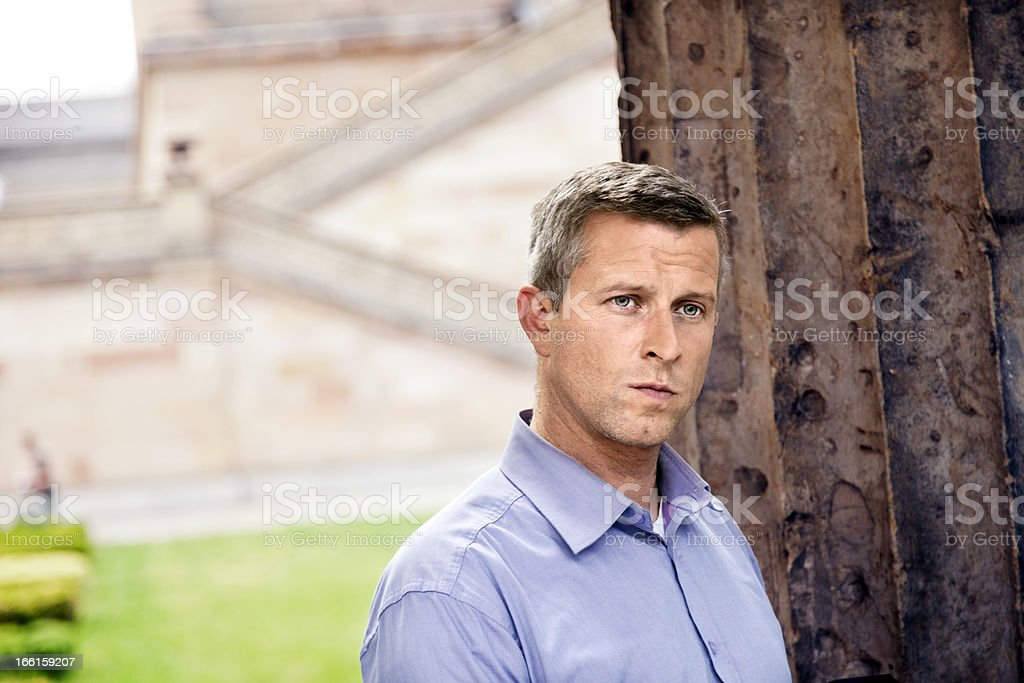 Serious Urban Adult Man royalty-free stock photo
