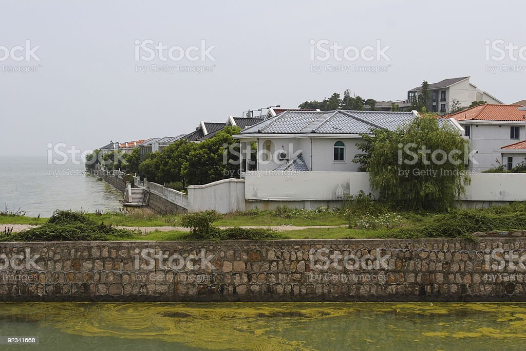Serious Water Pollution royalty-free stock photo