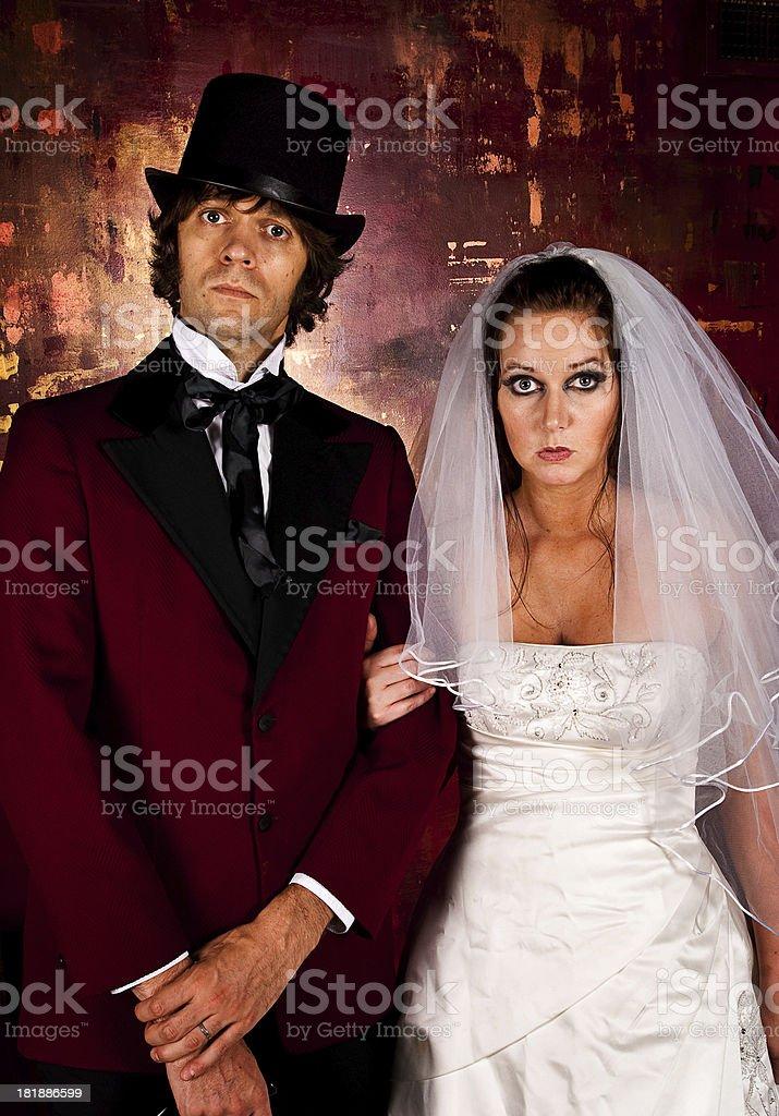 Serious Wedding royalty-free stock photo