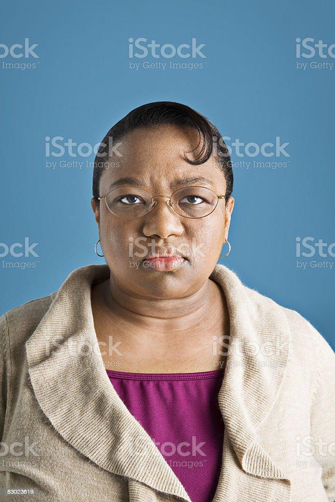 Serious woman foto stock royalty-free