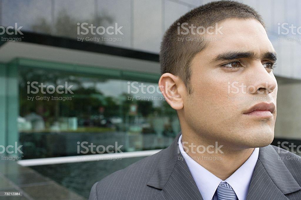 Grave jovem Empresário foto de stock royalty-free