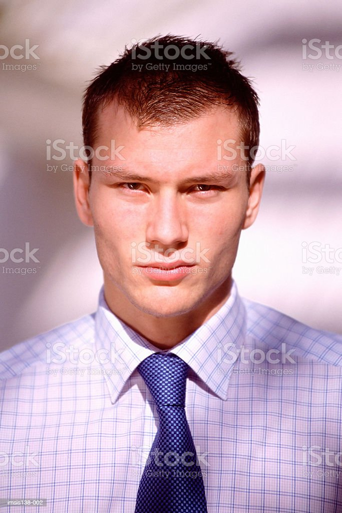 Serious young businessman royalty-free stock photo