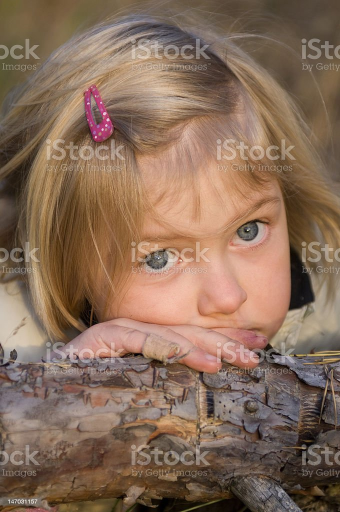 serious young girl royalty-free stock photo