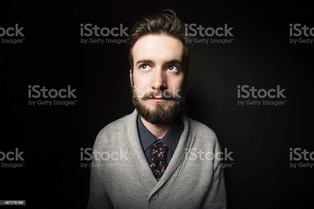 Serious young male royalty-free stock photo