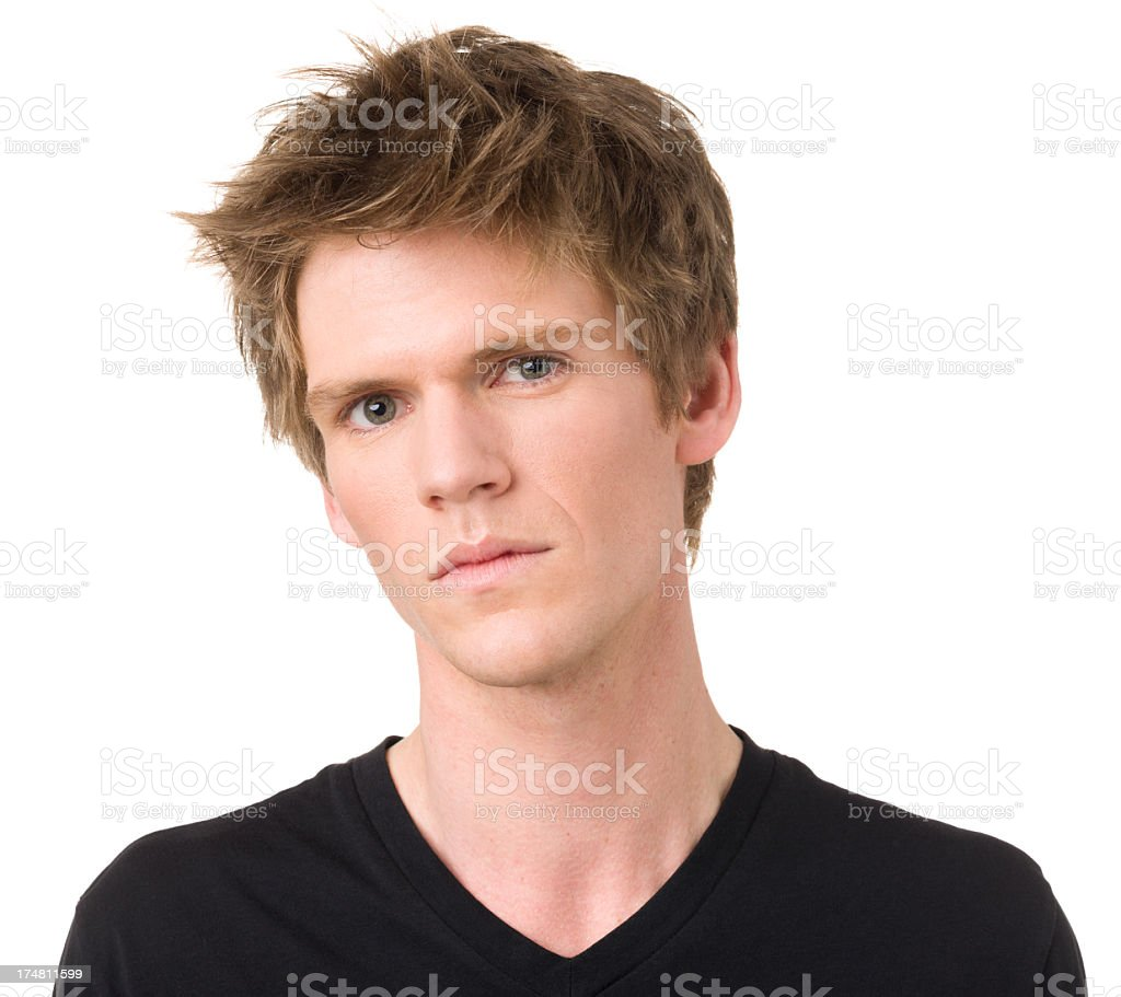 Serious Young Man Portrait royalty-free stock photo