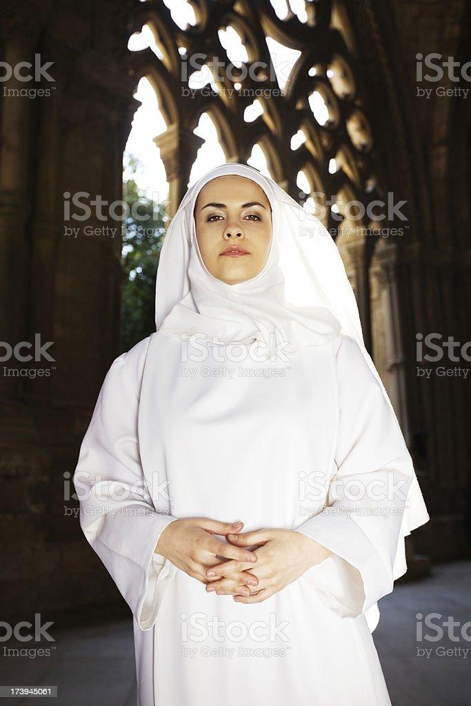 serious young nun royalty-free stock photo