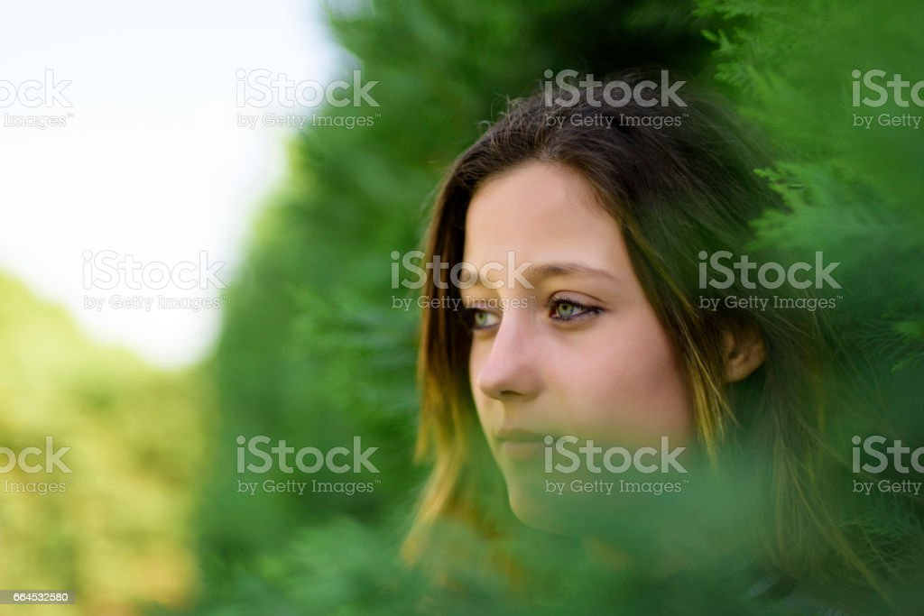 Serious Young Woman royalty-free stock photo