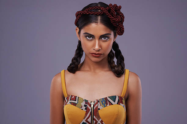 ernst schöne - indianer make up stock-fotos und bilder