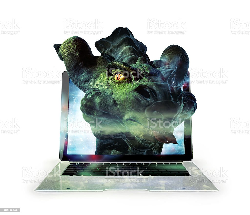 Seriously mean computer bug stock photo