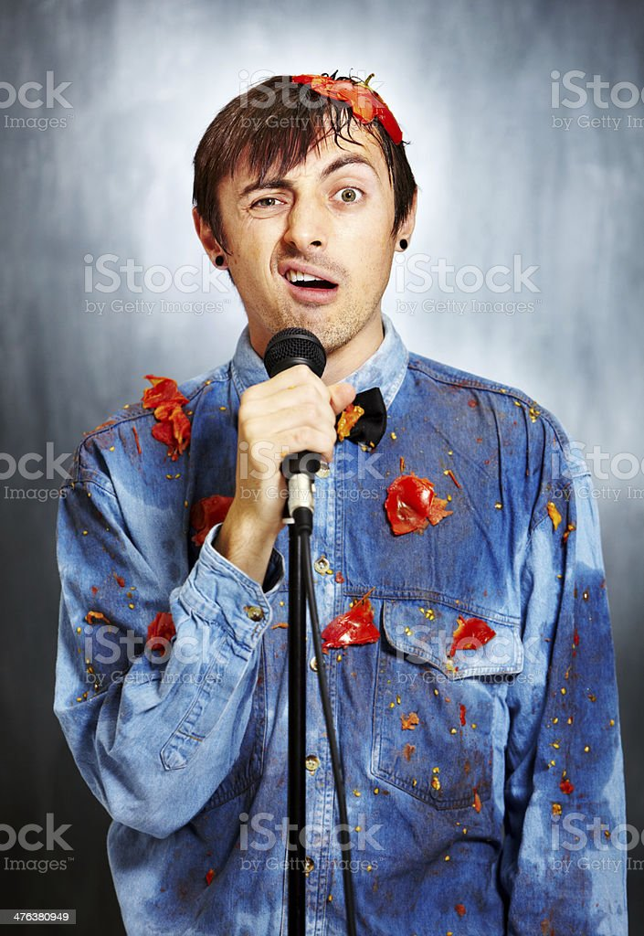 Seriously unfunny stock photo