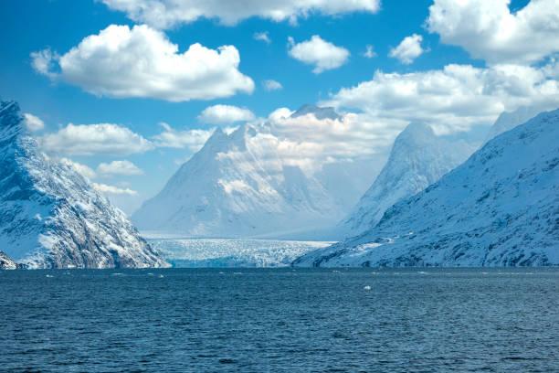 Sermitsiaq Glacier in Evighedsfjorden (Eternity Fjord), Western Greenland stock photo