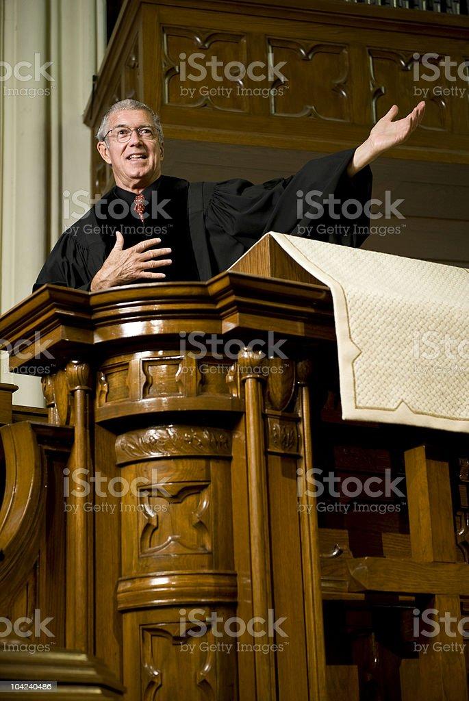 Sermon stock photo