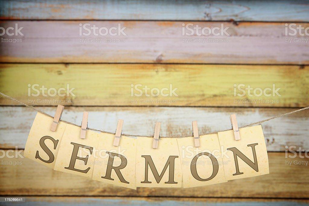 Sermon royalty-free stock photo
