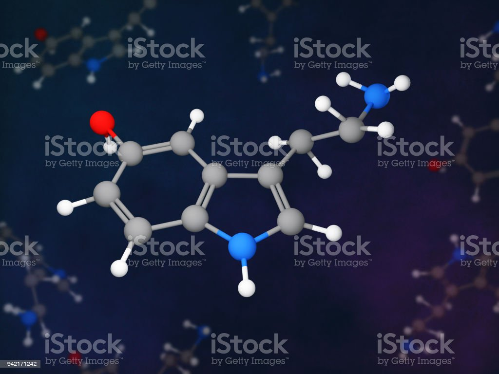 Serotonin stock photo