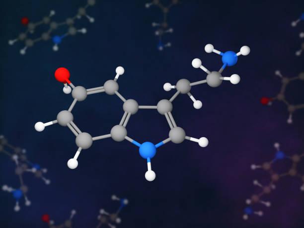 Serotonin stock photo