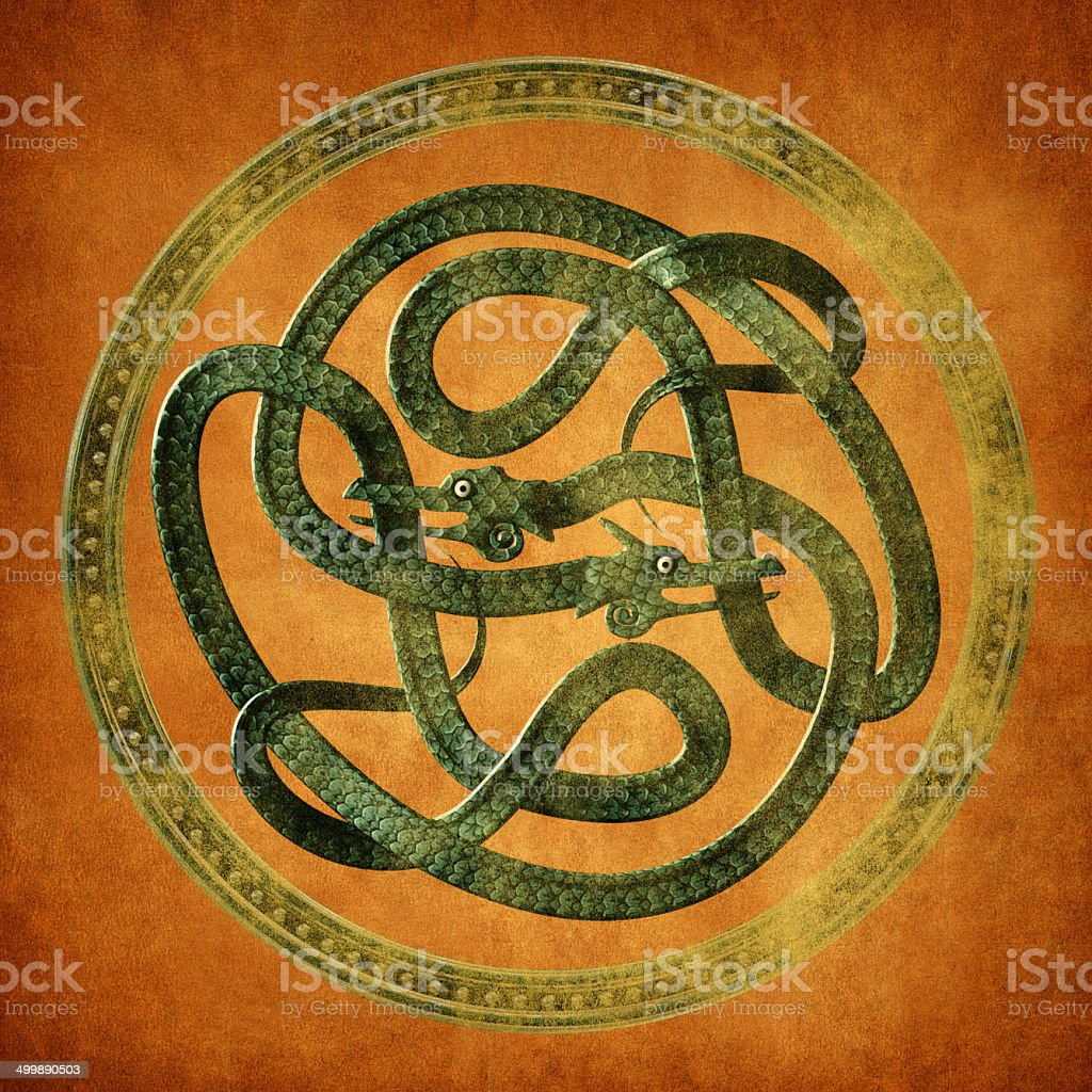 Serpent Celtic Knot stock photo